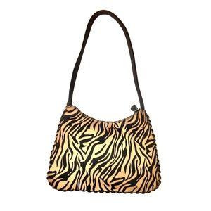 〰️ 90s zebra print shoulder bag